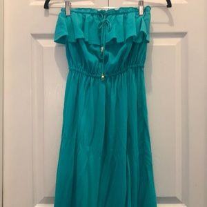 Juicy Couture teal maxi dress size xs
